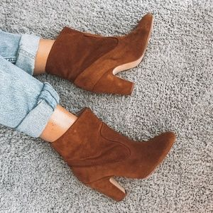 Zara collection brown suede ankle boots